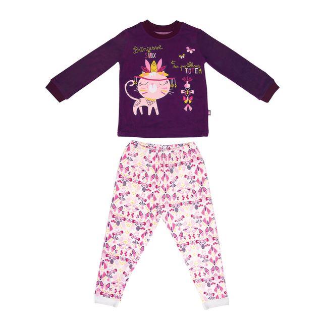 dff4454d3dca5 Petit Beguin - Pyjama fille manches longues Sioux - Taille - 2 3 ans 92 98  cm - pas cher Achat   Vente Pyjamas - RueDuCommerce