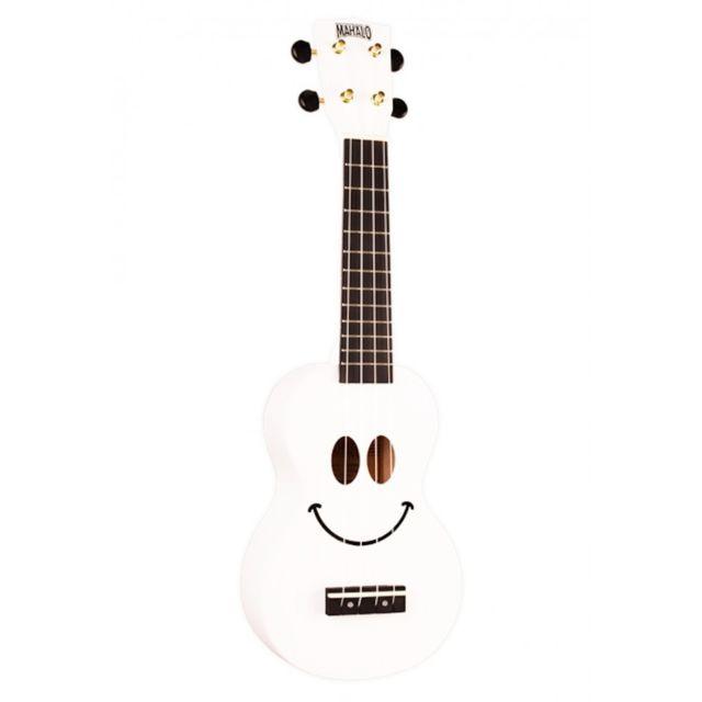 Mahalo - U-smile-wt - Ukulele Smiley Blanc + Housse