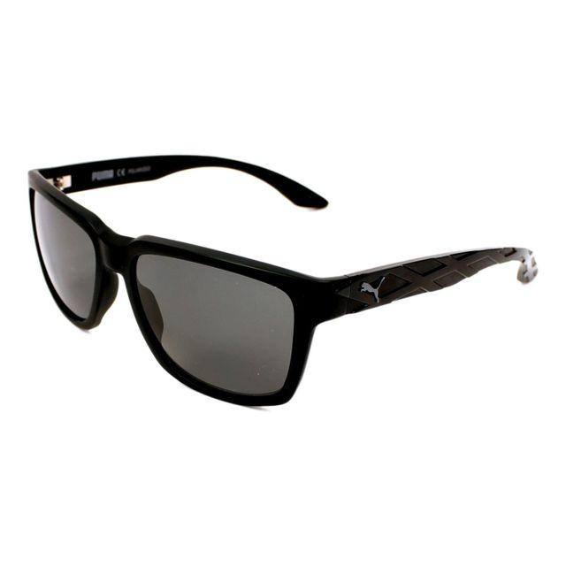 Puma - Exo Rtro Pu0037S 001 Noir mat - Noir brillant - Lunettes de soleil fb0fa2406b80