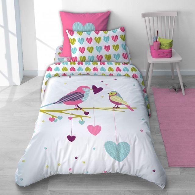 selene et gaia taie d 39 oreiller petits coeurs rose en. Black Bedroom Furniture Sets. Home Design Ideas