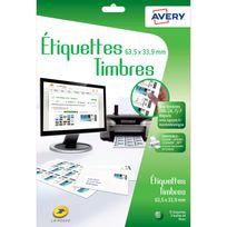 Avery - Etiquettes pour timbres à imprimer