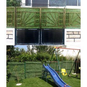 euro castor green haie artificielle ecran de verdure thuya en rouleau hauteur 150cm pas cher. Black Bedroom Furniture Sets. Home Design Ideas