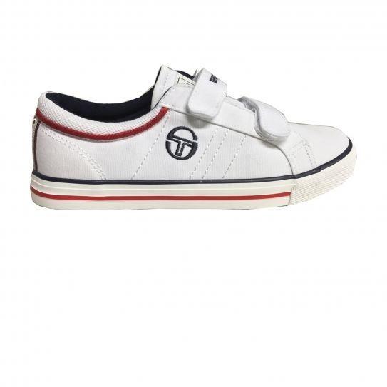 1c46b56e54c01 Sergiotacchini - Chaussures Velcro Copenhagen Cvs White Red Jr - Tacchini