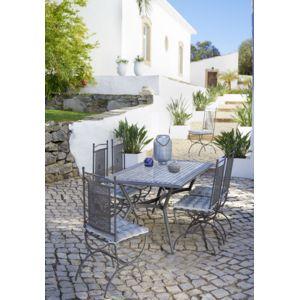 CARREFOUR - Table de jardin Mosaïque rectangulaire Noir et jaune ...