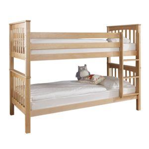 soldes comforium lit superpos contemporain 90x200 cm en h tre massif marron 90cm x 200cm. Black Bedroom Furniture Sets. Home Design Ideas