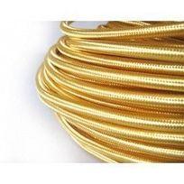Desineo - Fil électrique tissé de couleur Gold vintage look retro en tissu