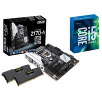 RUE DU COMMERCE - Kit EVO Skylake - INTEL Core i5 6600K - ASUS Z170-A - 2x 8 Go DDR4 CORSAIR Vengeance LPX 2400 MHz CAS 16