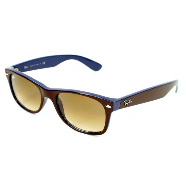 fb0e1bbf9e7b04 Ray-Ban - Ray Ban - New Wayfarer Rb2132 874 51 Marron - Bleu ...