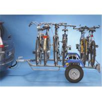 Mottez - Remorque porte-vélos 2 roues pour 6 vélos A356S, fixation sur boule d'attelage
