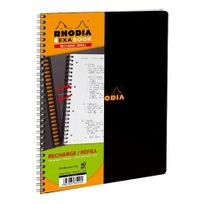 Rhodia - Recharge cahier spirales Exabook A4+ Seyes 160 pages