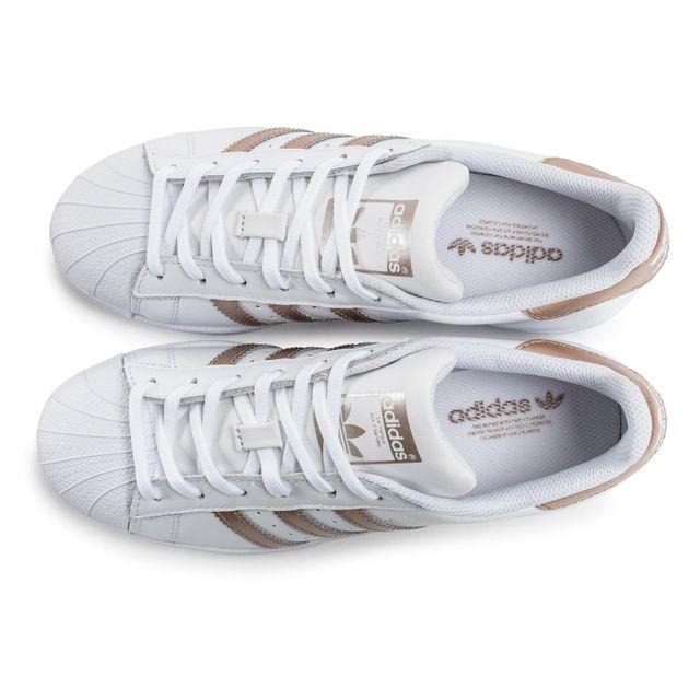nouvelle collection 33985 d8e7b clearance adidas superstar w rose et blanc a7784 e98a9