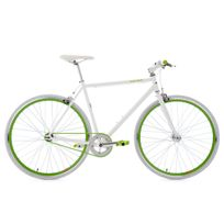 Ks Cycling - Fitnessbike 28'' Flip Flop blanc-vert 56 cm
