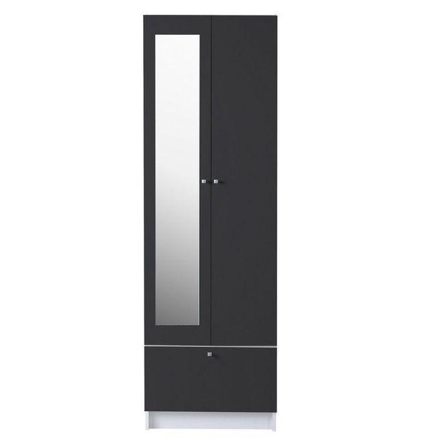Comforium armoire moderne de salle de bain avec 2 portes - Armoire de salle de bain pas cher ...