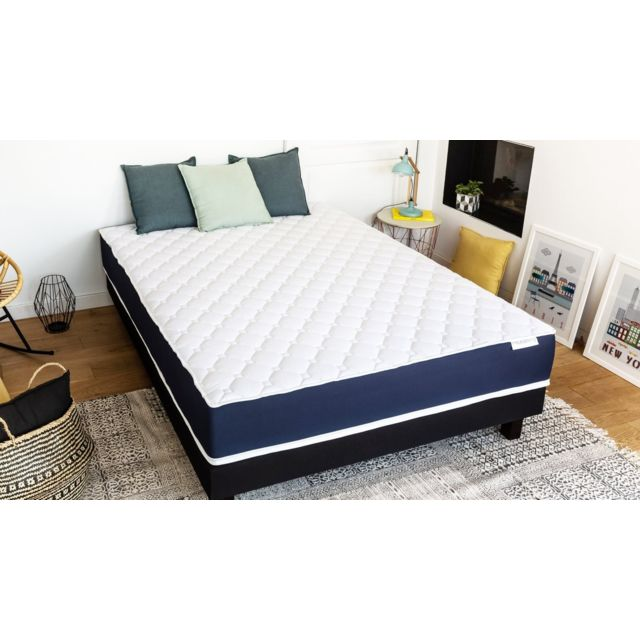 hbedding ensemble matelas m moire sommier 90x190 visco fresh mousse haute densit et. Black Bedroom Furniture Sets. Home Design Ideas