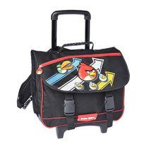 Angry Birds - Cartable 41cm à roulettes noir