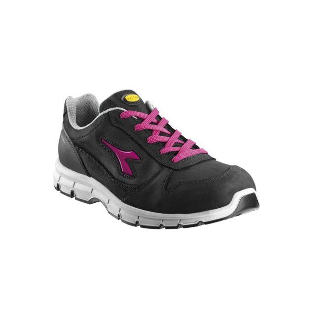 Chaussure Basse Noirfucchia 158592 Pas Diadora Flash Cher Run 3RLAj54