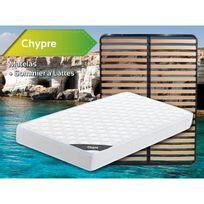 Altobuy - Chypre - Pack Matelas + Lattes 160x200