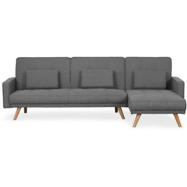 Declikdeco Envie de transformer votre salon en un espace convivial et chaleureux ? N'attendez plus, ce Canapé D'Angle Scandinave Co