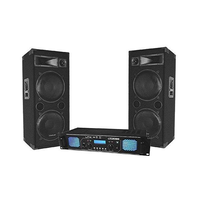 Ltc Pack Sono Dj ampli 2x1000w + enceintes 2x600w Ma-4