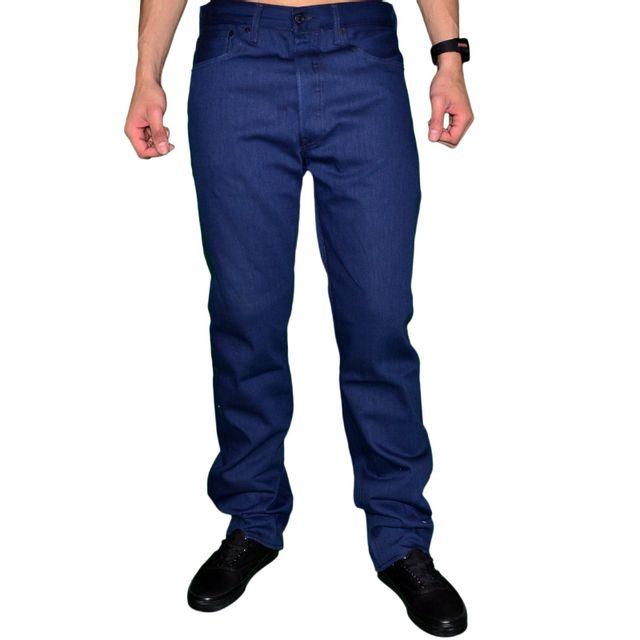 Levi'S - Levis - Jean - Homme - 501 Shrink-to-fit Cartonné - Cobalt Blue - Bleu Marine