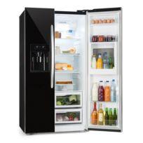 KLARSTEIN - Grand Host XXL Combiné type réfrigérateur américain & congélateur - Capacité totale de 550 litres - Classe énergétique A+ - Design noir