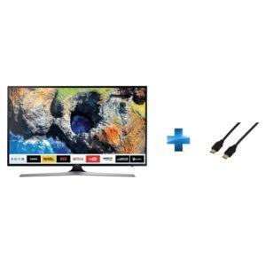 TV LED 55'' - UE55MU6192 + Cordon HDMI 1.4 - 1.5 mètres_0