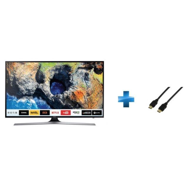 TV LED 55'' - UE55MU6192 + Cordon HDMI 1.4 - 1.5 mètres small