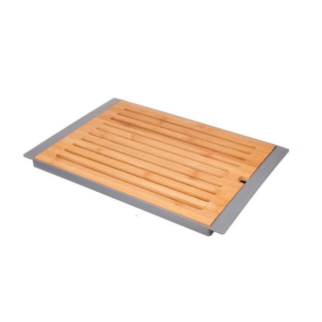 Jja Planche à pain en bambou + Plateau Gris