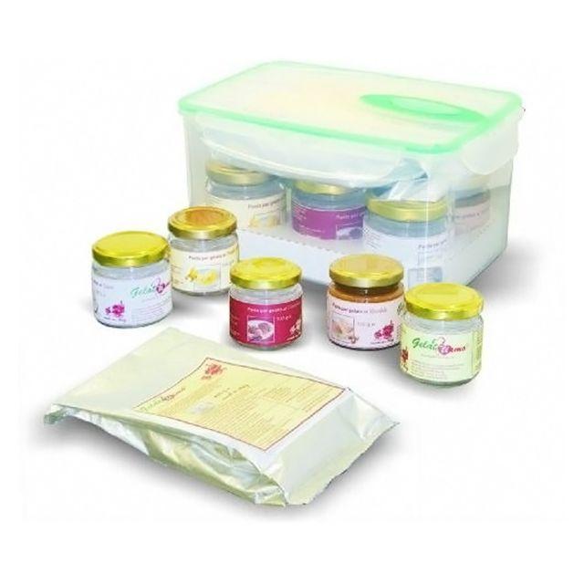 NEMOX kit de préparation de glace 5 parfums pour turbine à glace - gelattiamo