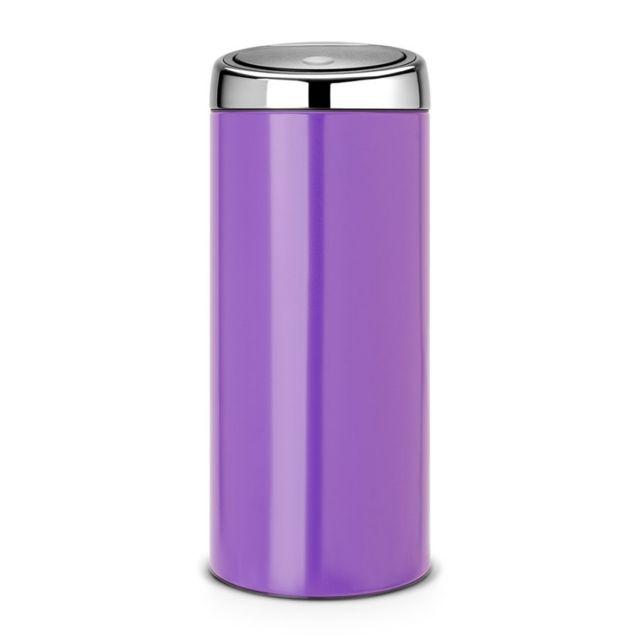 Brabantia Poubelle Touch Bin®, 30 litres - Pansy Purple