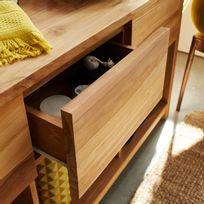 Meuble bas teck achat meuble bas teck pas cher rue du for Meuble salle de bain rue du commerce