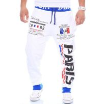 Marque Generique - Jogging homme sportswear Jogging 631 blanc fashion
