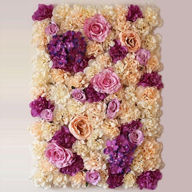 Wewoo Decoration Jardin Champagne Et Rose Violet Champagne Fleur