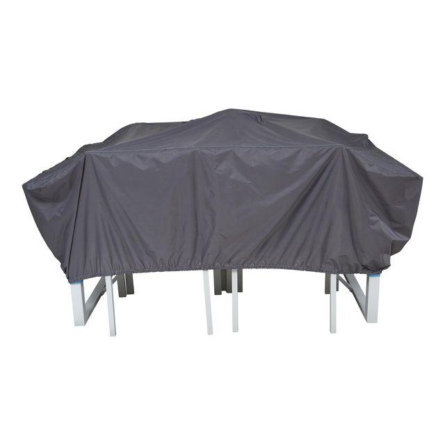 oviala housse de protection table de jardin 180 x 110 cm. Black Bedroom Furniture Sets. Home Design Ideas