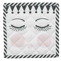 Miss Etoile - 2 maniques en coton Visage et Pois - Rose et Blanc