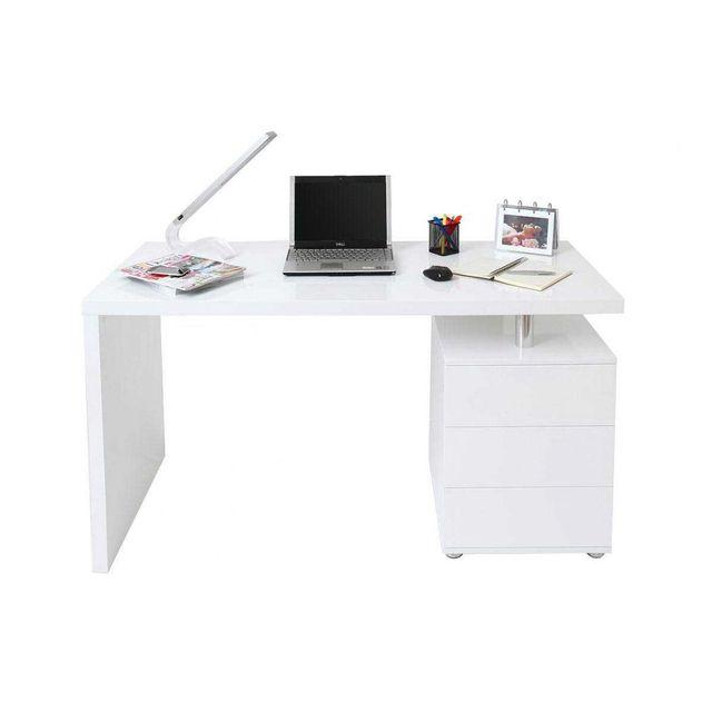 afb6c48e091 Bureau laque blanc design - catalogue 2019 -  RueDuCommerce - Carrefour