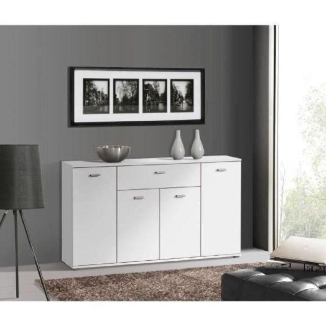 Icaverne BUFFET - BAHUT - ENFILADE DIXI Buffet bas contemporain blanc - L 120 cm