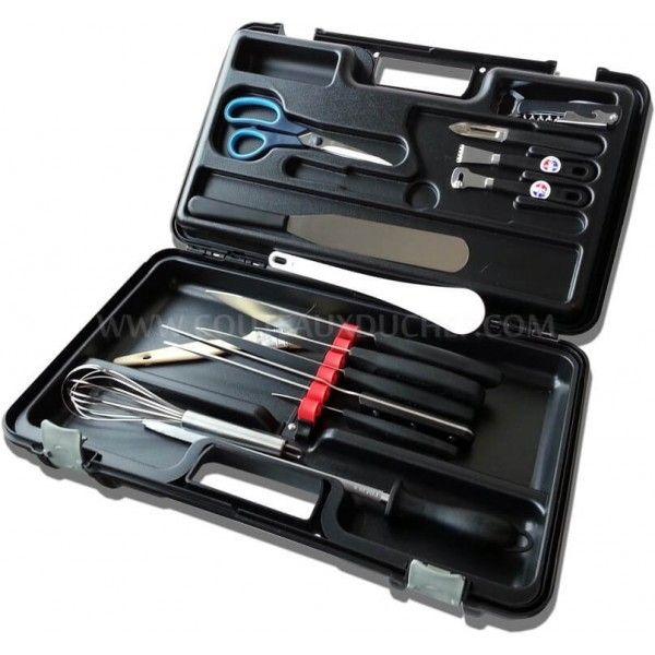 Fischer Malette 15 couteaux et ustensiles professionnels Bargoin