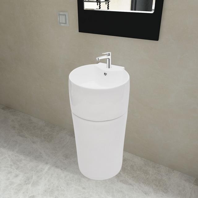 Rocambolesk - Superbe Vasque à trou de trop-plein/robinet céramique ...