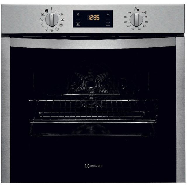Indesit four intégrable 71l 60cm a+ pyrolyse inox - ifw5844pix