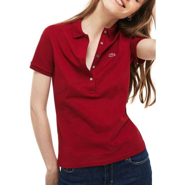 Lacoste - Polo manches courtes slim fit - pas cher Achat   Vente Polo femme  - RueDuCommerce ddc65dc14c1