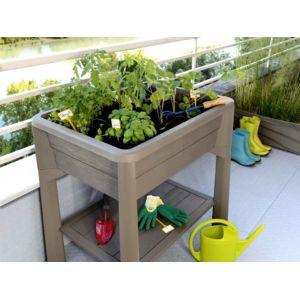 eda espace potager veg et table sans serre taupe pas cher achat vente carr potager. Black Bedroom Furniture Sets. Home Design Ideas