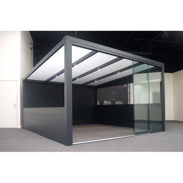 Sonnier Bois Panneaux Menuiserie - Pergola aluminium 5060 x 3500 - 3 poteaux Nc