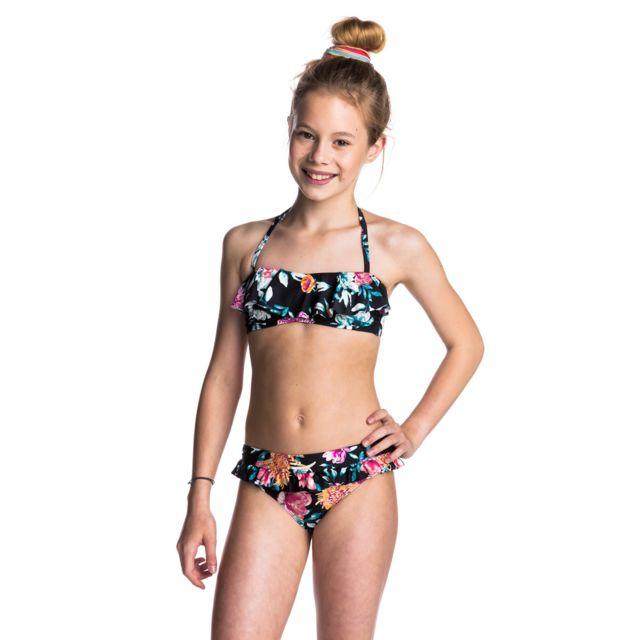 prix le plus bas 1dfc5 6c228 Maillot de bain enfant Wild Flower Fashion Noir