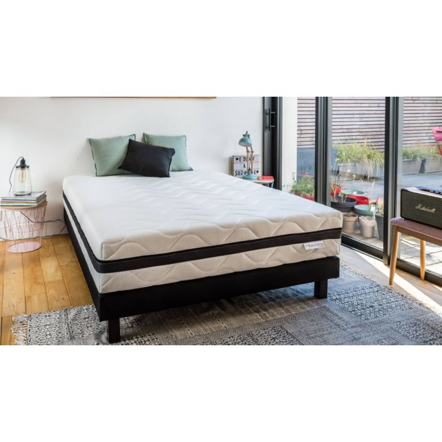 hbedding ensemble matelas mousse haute densit sommier 140x190 aero pure mousse haute. Black Bedroom Furniture Sets. Home Design Ideas