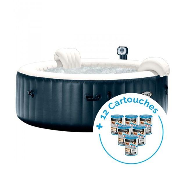 intex spa gonflable purespa plus bulles 4 personnes 12. Black Bedroom Furniture Sets. Home Design Ideas