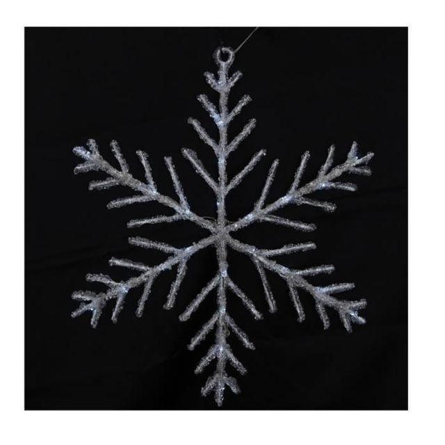 DECORATION LUMINEUSE Décoration de Noël Flocon solaire 24 LED - Ø 50 cm - Blanc Froid