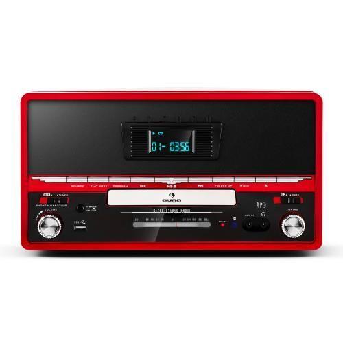 auna rtt 1922 cha ne hifi r tro mp3 cd usb fm aux mode enregistremement rouge pas cher achat. Black Bedroom Furniture Sets. Home Design Ideas