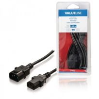 Valueline - Câble d''alimentation Iec-320-C14 - Iec-320-C13 3.00 m noir