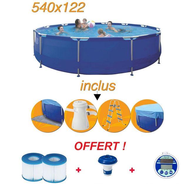 Jilong piscine hors sol tubulaire 540 x 122 cm pas for Piscine hors sol resine